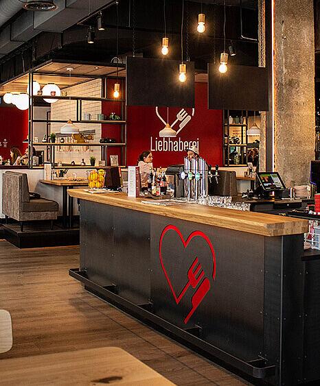 Liebhaberei-Linz, Bardesign, Wirtshauseinrichtung, Bar in Metall, Lichtkonzept