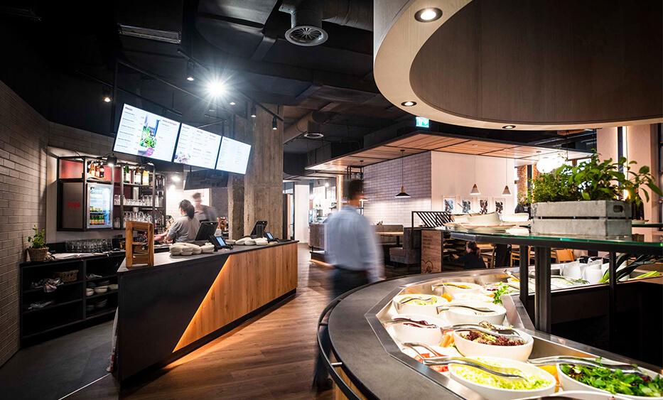 SB - Restaurant Einrichtung - Liebhaberei-Linz, Bestell Counter und Saltbuffet - ID-Werkstatt, Restaurant Einrichtung aus Österreich